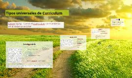 Tipos universales de Curriculum