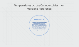 Temperatures across Canada colder than Mars and Antarctica