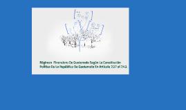 Copy of Régimen  Financiero De Guatemala Según La Constitución Polít