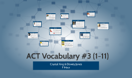 ACT Vocabulary #3 (1-11)