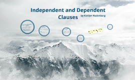 Copy of Independent and Dependent Clauses