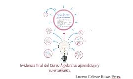 Evidencia final del Curso Álgebra su aprendizaje y su enseña