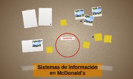 Sistemas de información en McDonald's