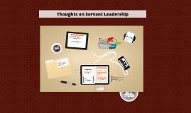Thoughts on Servant Leadership - Malta 2013