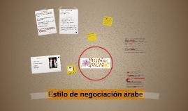 Estilo de negociación árabe