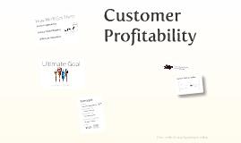 Customer Profitability - Introduction