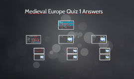 Medieval Europe Quiz 1 Answers