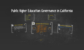 Higher Education Governance in California