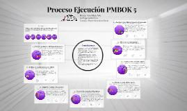 Proceso PMBOK 5