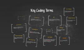 Key Coding Terms