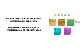 PROCEDIMIENTOS Y CRITERIOS PARA DETERMINAR CERO PIEZA  Y COMPENSACIÓN DE HERRAMIENTA EN TORNO Y FRESADORA