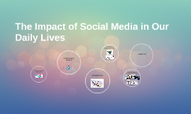 The Impact of Social Media in Our Daily Lives