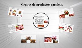 Grupos de productos carnicos
