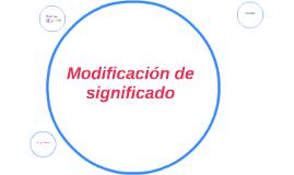Modificación de significado