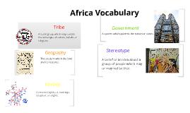 Africa Vocabulary