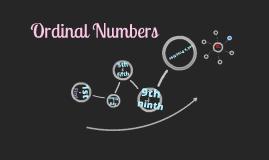 Copy of Ordinal Numbers
