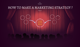 HOW TO MAKE A MARKETING STRATEGY ?