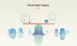 Final test topics