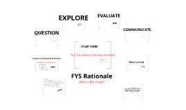 First Year Seminar: Rationale