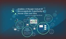 Analysis of Basigin Subset of Immunoglobulin Superfamily in