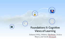 Foundations II: Cognitive Views of Learning