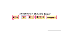 A Brief History of Marine Biology
