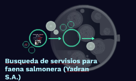 Busqueda de Servisios para faena salmonera (Yadran S.A.)