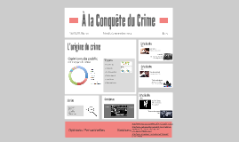 À la Conquête du Crime