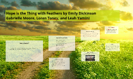 Copy of Hope is the Thing with Feathers by Emily Dickinson