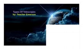 1 Types Of Telescopes