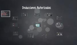DEDUCCIONES AUTORIZADA