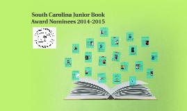 South carolina Junior Book Award Nominees 2014-2015