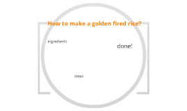 How to make a golden fired rice.