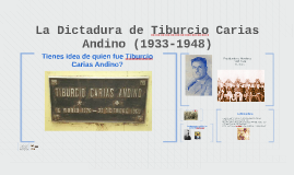 La Dictadura de Tiburcio Carias Andino (1933-1948)