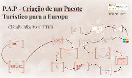 P.A.P - Criação de um Pacote Turístico para a Europa