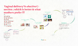 Vginal delivery Vs elective C-section
