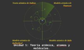 Unidad 1: Teoría atómica, atomos y moléculas.