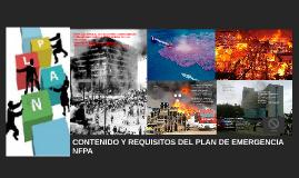 CONTENIDO Y REQUISITOS DEL PLAN DE EMERGENCIA