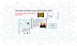 Reunión de Directorio: Noviembre 2013