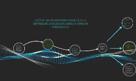 LA ÉTICA PÚBLICA DE LOS MAESTROS OFICIALES EN LA DEFENSA DE