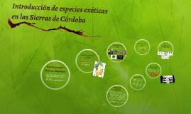 Introducción de especies exóticas en las Sierras de Córdoba