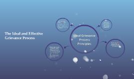 Ideal Grievance Process Principles