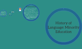 History of Language: Minority Education