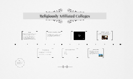 History of Religiously Affiliated Colleges