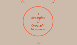 3 Examples of Copyright Violations