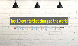 Top 10 events that changed the world