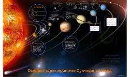 Osnovne karakteristike Sunčevog sistema