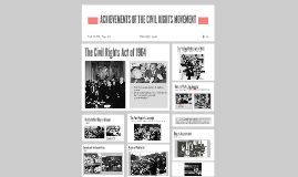 ACHIEVEMENTS OF THE CIVIL RIGHTS MOVEMENT