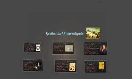 Goethe als Universalgenie