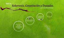 Soberanía, Constitución y Tratados.